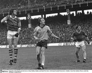 September 1975; Paud Lynch, left, Kerry, Brian Mullins, Dublin, and Paidi O'Se, Kerry. All-Ireland Football Final, Kerry v Dublin, Croke Park, Dublin. Picture credit; Ray McManus / SPORTSFILE