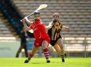 17 August 2013; Joanne O'Callaghan, Cork, in action against Katie Power, Kilkenny. Liberty Insurance All-Ireland Senior Camogie Championship, Semi-Final, Cork v Kilkenny, Semple Stadium, Thurles, Co. Tipperary. Picture credit: Paul Mohan / SPORTSFILE