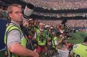 18 June 1994; Photographers are seen during the FIFA World Cup 1994 Group E match between Republic of Ireland and Italy at Giants Stadium in New Jersey, USA. Photo by David Maher/Sportsfile