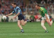 21 August 1994; Niall Guiden, Dublin in action against Leitrim's Noel Moran. Bank of Ireland Football Championship Semi Final. Dublin v Leitrim. Croke Park. Dublin. Picture credit; Ray McManus / SPORTSFILE