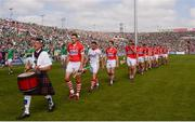 14 July 2013; The Cork team led by captain Pa Cronin during the parade. Munster GAA Hurling Senior Championship Final, Limerick v Cork, Gaelic Grounds, Limerick. Picture credit: Ray McManus / SPORTSFILE