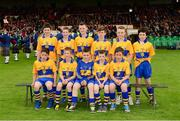 23 June 2013; The Clare Primary Go Games team, back row, left to right, John Finucane, Oisín Egan, Eoin O'Connor, Luke McDermott, Liam O'Dwyer, Gearóid Collins, front row, left to right, Martin McCormack, Peter Connors, Aaron Conlan, Liam Crowe, Conor Leydon. Munster GAA Hurling Senior Championship Semi-Final, Cork v Clare, Gaelic Grounds, Limerick. Picture credit: Ray McManus / SPORTSFILE