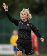 1 September 2013; Referee Irma Mulvihill. FAI Umbro Women's Intermediate Cup Final, Colga FC v Douglas Hall LFC, Fahy's Field, Galway. Picture credit: Diarmuid Greene / SPORTSFILE