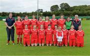 1 September 2013; The Colga FC squad. FAI Umbro Women's Intermediate Cup Final, Colga FC v Douglas Hall LFC, Fahy's Field, Galway. Picture credit: Diarmuid Greene / SPORTSFILE