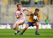 1 September 2013; Jack Earley, Roscommon, in action against Pádraig McGirr, Tyrone. Electric Ireland GAA Football All-Ireland Minor Championship, Semi-Final, Roscommon v Tyrone, Croke Park, Dublin. Picture credit: Paul Mohan / SPORTSFILE