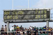 26 June 2004; The Scoreboard shows the final score. Guinness Senior Hurling Championship Qualifier, Round 1, Clare v Laois, Gaelic Grounds, Limerick. Picture credit; Pat Murphy / SPORTSFILE
