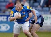10 July 2004; Niall Sheridan, Longford, in action against Paddy Christie, Dublin. Bank of Ireland Senior Football Championship Qualifier, Round 3, Dublin v Longford, O'Moore Park, Portlaoise, Co. Laois. Picture credit; Ray McManus / SPORTSFILE