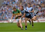 1 September 2013; Peter Crowley, Kerry, is tackled by Paul Flynn, Dublin. GAA Football All-Ireland Senior Championship, Semi-Final, Dublin v Kerry, Croke Park, Dublin. Picture credit: Stephen McCarthy / SPORTSFILE