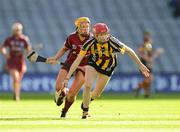 15 September 2013; Denise Gaule, Kilkenny, in action against Sarah Dervan, Galway. Liberty Insurance All-Ireland Senior Camogie Championship Final, Galway v Kilkenny, Croke park, Dublin. Picture credit: Paul Mohan / SPORTSFILE