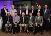 21 September 2013; Former Roscommon players in attendance at the inaugural GPA Former Players Network event. Front row, from left, Tony Kenny, Vinnie Glennon, Christy Grogan, Mark O'Gara and Tom Heneghan. Back row, from left, Martin McDermott, Harry Keegan, Seamus Hayden, Gerry Fitzmaurice, Tom Hunt, Gay Sheerin and John O'Callaghan. Hilton DoubleTree, Ballsbridge, Dublin. Picture credit: Paul Mohan / SPORTSFILE
