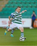 21 September 2013; Gary McCabe, Shamrock Rovers, shoots from the penalty spot to score his side's first goal. EA Sports Cup Final, Shamrock Rovers v Drogheda United, Tallaght Stadium, Tallaght, Co. Dublin. Picture credit: Paul Mohan / SPORTSFILE