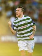 21 September 2013; Gary McCabe, Shamrock Rovers, celebrates after scoring his side's first goal. EA Sports Cup Final, Shamrock Rovers v Drogheda United, Tallaght Stadium, Tallaght, Co. Dublin. Picture credit: Paul Mohan / SPORTSFILE