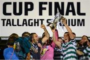 21 September 2013; Shamrock Rovers captain Shane Robinson lifts the cup. EA Sports Cup Final, Shamrock Rovers v Drogheda United, Tallaght Stadium, Tallaght, Co. Dublin. Picture credit: Paul Mohan / SPORTSFILE