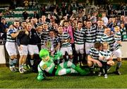 21 September 2013; The Shamrock Rovers team celebrate with the cup after the game. EA Sports Cup Final, Shamrock Rovers v Drogheda United, Tallaght Stadium, Tallaght, Co. Dublin. Picture credit: Paul Mohan / SPORTSFILE