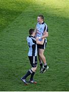 22 September 2013; Jack McCaffrey, right, and Paddy Andrews, Dublin, celebrate at the end of the game. GAA Football All-Ireland Senior Championship Final, Dublin v Mayo, Croke Park, Dublin. Picture credit: Dáire Brennan / SPORTSFILE