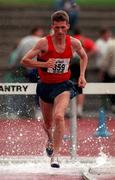 13 July 1997; Patrick Davoren of UCC, A.C. on his way to winning the 3000m Steeplechase during the BLÉ National Track & Field Championships at Morton Stadium in Santry, Dublin. Photo by David Maher/Sportsfile
