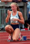 13 July 1997; Zoe Arnold of Lucan Valley A.C. during the BLÉ National Track & Field Championships at Morton Stadium in Santry, Dublin. Photo by David Maher/Sportsfile