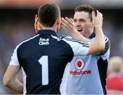 22 September 2013; Dublin's Paddy Andrews, right, and Stephen Cluxton celebrate their side's victory at the final whistle. GAA Football All-Ireland Senior Championship Final, Dublin v Mayo, Croke Park, Dublin. Picture credit: Stephen McCarthy / SPORTSFILE