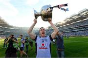 22 September 2013; Paddy Andrews, Dublin, celebrates with the Sam Maguire cup after the game. GAA Football All-Ireland Senior Championship Final, Dublin v Mayo, Croke Park, Dublin. Picture credit: Paul Mohan / SPORTSFILE
