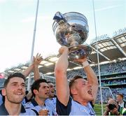 22 September 2013; Paul Flynn, right, and Bernard Brogan, Dublin, celebrate at the end of the game. GAA Football All-Ireland Senior Championship Final, Dublin v Mayo, Croke Park, Dublin. Picture credit: David Maher / SPORTSFILE