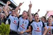 22 September 2013; Dublin players, from left, Diarmuid Connolly, Paul Flynn and Paddy Andrews celebrate after the game. GAA Football All-Ireland Senior Championship Final, Dublin v Mayo, Croke Park, Dublin. Picture credit: Ray McManus / SPORTSFILE