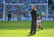 22 September 2013; Mayo trainer Donie Buckley. GAA Football All-Ireland Senior Championship Final, Dublin v Mayo, Croke Park, Dublin. Picture credit: Brendan Moran / SPORTSFILE