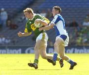 29 August 2004; Daniel Doyle, Kerry, in action against Craig Rogers, Laois. All-Ireland Minor Football Championship Semi-Final, Kerry v Laois, Croke Park, Dublin. Picture credit; Matt Browne / SPORTSFILE