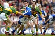 29 August 2004; Craig Rogers, Laois, in action against Colm O'Mahony,19, and Killian Young, Kerry. All-Ireland Minor Football Championship Semi-Final, Kerry v Laois, Croke Park, Dublin. Picture credit; Matt Browne / SPORTSFILE