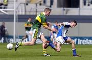 29 August 2004; Craig Rogers, Laois, in action against Andrew Kennelly, Kerry. All-Ireland Minor Football Championship Semi-Final, Kerry v Laois, Croke Park, Dublin. Picture credit; Brian Lawless / SPORTSFILE