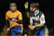 2 October 2013; Nicky O'Connell, Clare B, in action against Patrick Donnellan, Clare A. GOAL Challenge, Clare A v Clare B, Sixmilebridge, Co. Clare. Picture credit: Diarmuid Greene / SPORTSFILE