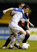 11 September 2004; Steven Gavin, Athlone Town, in action against Sean Prunty, Longford Town. FAI Cup Quarter-Final, Longford Town v Athlone Town, Flancare Park, Longford. Picture credit; David Maher / SPORTSFILE