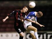11 September 2004; Sean Prunty, Longford Town, in action against Adrian Murphy, Athlone Town. FAI Cup Quarter-Final, Longford Town v Athlone Town, Flancare Park, Longford. Picture credit; David Maher / SPORTSFILE