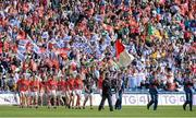 29 September 2013; The Cork team walk in the pre-match parade. TG4 All-Ireland Ladies Football Senior Championship Final, Cork v Monaghan, Croke Park, Dublin. Picture credit: Brendan Moran / SPORTSFILE