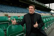 3 September 2004; Fran Rooney, CEO, FAI, pictured at Lansdowne Road, Dublin. Picture credit; Ray McManus / SPORTSFILE