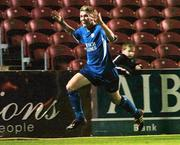 15 September 2004; P J Banville, Waterford United, celebrates after scoring his sides last minute winning goal. FAI Cup Quarter Final Replay, Rockmount v Waterford United, Turners Cross, Cork. Picture credit; David Maher / SPORTSFILE