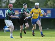 11 September 2004; Kieran Dowds, Burt, in action against Kevin Campbell, left, and Danny Cullen, Setanta. AIB Kilmacud Crokes All-Ireland Hurling Sevens 2004  Shield Final, Burt v Setanta, Kilmacud Crokes, Glenalbyn, Stillorgan, Dublin. Picture credit; Ray McManus / SPORTSFILE