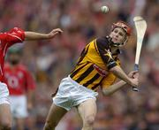 12 September 2004; Tommy Walsh, Kilkenny. Guinness All-Ireland Senior Hurling Championship Final, Cork v Kilkenny, Croke Park, Dublin. Picture credit; Ray McManus / SPORTSFILE *** Local Caption *** Any photograph taken by SPORTSFILE during, or in connection with, the 2004 Guinness All-Ireland Hurling Final which displays GAA logos or contains an image or part of an image of any GAA intellectual property, or, which contains images of a GAA player/players in their playing uniforms, may only be used for editorial and non-advertising purposes.  Use of photographs for advertising, as posters or for purchase separately is strictly prohibited unless prior written approval has been obtained from the Gaelic Athletic Association.