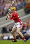 12 September 2004; Joe Deane, Cork. Guinness All-Ireland Senior Hurling Championship Final, Cork v Kilkenny, Croke Park, Dublin. Picture credit; Ray McManus / SPORTSFILE *** Local Caption *** Any photograph taken by SPORTSFILE during, or in connection with, the 2004 Guinness All-Ireland Hurling Final which displays GAA logos or contains an image or part of an image of any GAA intellectual property, or, which contains images of a GAA player/players in their playing uniforms, may only be used for editorial and non-advertising purposes.  Use of photographs for advertising, as posters or for purchase separately is strictly prohibited unless prior written approval has been obtained from the Gaelic Athletic Association.