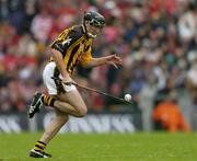 12 September 2004; Eddie Brennan, Kilkenny. Guinness All-Ireland Senior Hurling Championship Final, Cork v Kilkenny, Croke Park, Dublin. Picture credit; Ray McManus / SPORTSFILE *** Local Caption *** Any photograph taken by SPORTSFILE during, or in connection with, the 2004 Guinness All-Ireland Hurling Final which displays GAA logos or contains an image or part of an image of any GAA intellectual property, or, which contains images of a GAA player/players in their playing uniforms, may only be used for editorial and non-advertising purposes.  Use of photographs for advertising, as posters or for purchase separately is strictly prohibited unless prior written approval has been obtained from the Gaelic Athletic Association.