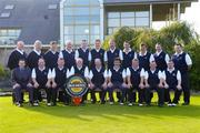 17 September 2004; The Charleville Golf Club team, back row, left to right, Brendan Buckley, Eddie Barry, Dominic Kiely, Michael Quade, Declan Whelan, Sean McSweeney, Anthony FitzGerald, Barra O'Dwyer, Declan Mooney, Mike Galligan and Tom Allen. Front row, left to right, Stephen Kent, Bulmers Marketing Manager, John Kavanagh, Danny Deady, Kevin Cagney, club captain, Jackie McCarthy, team captain, Mike Keating, vice captain, Bill Hanley, James Browne and Damien Hartigan who played Dundalk Golf Club in the semi-finals of Bulmers Jimmy Bruen Shield. Shannon Golf Club, Shannon, Co. Clare. Picture credit; Ray McManus / SPORTSFILE