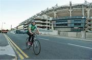 10 October 2013; Neasa O'Se setting off from Croke Park as she begins the first leg of the Paidi O Se Charity Cycle Sportive. The inaugural three day cycle from Croke Park to Ventry is sponsored by Opel, supported by Cuisine de France and running from October 10th - 12th to raise money for cardiac services, through Fundúireacht Páidí Ó Sé. For more information on the Paidi Ó Sé Charity Cycle Sportive log on to paidiose.com. Croke Park, Dublin. Picture credit: Barry Cregg / SPORTSFILE