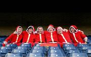 12 October 2013; Munster supporters dressed as Santa Claus, from left, David Conroy, from Currow, Co. Kerry, with Peter Foley, Danny Leahy, Kevin Foley, Charlie Foley, Shane Browne, all from Cork City, at the game. Heineken Cup 2013/14, Pool 6, Round 1, Edinburgh v Munster, Murrayfield, Edinburgh, Scotland.  Picture credit: Brendan Moran / SPORTSFILE