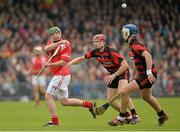 13 October 2013; Thomas Connors of Passage in action against Shane O'Sullivan and Shane Walsh of Ballygunner during the Waterford County Senior Club Hurling Championship Final match between Ballygunner and Passage at Walsh Park in Waterford. Photo by Matt Browne/Sportsfile