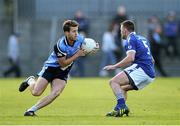 13 October 2013; Paddy Dowdall, St Lomans, in action against Dean McNicholas, Tyrrellspass. Westmeath County Senior Club Football Championship Final, St Lomans v Tyrrellspass, Cusack Park, Mullingar, Co Westmeath. Picture credit: Ramsey Cardy / SPORTSFILE
