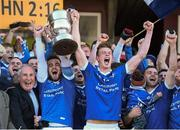 13 October 2013; Paul Sharry, left, and John Heslin, St Lomans, lift the cup after victory over Tyrrellspass. Westmeath County Senior Club Football Championship Final, St Lomans v Tyrrellspass, Cusack Park, Mullingar, Co Westmeath. Picture credit: Ramsey Cardy / SPORTSFILE