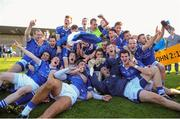 13 October 2013; St Lomans players celebrate after defeating Tyrellspass. Westmeath County Senior Club Football Championship Final, St Lomans v Tyrrellspass, Cusack Park, Mullingar, Co Westmeath. Picture credit: Ramsey Cardy / SPORTSFILE