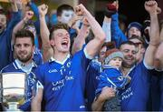 13 October 2013; Paul Sharry, left, John Heslin Paddy Dowdall, right, St Lomans, celebrate after victory over Tyrrellspass. Westmeath County Senior Club Football Championship Final, St Lomans v Tyrrellspass, Cusack Park, Mullingar, Co Westmeath. Picture credit: Ramsey Cardy / SPORTSFILE