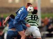 17 January 1999; Tony McDonnell of UCD in action against Terry Palmer of Shamrock Rovers during the Harp Lager National League Premier Division match between UCD and Shamrock Rovers at Belfield Park in Dublin. Photo by Ray McManus/Sportsfile