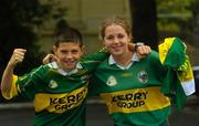 27 September 2004; Kerry supporters John and Mairín Egan son and daughter of the legendary Kerry footballer John Egan, Burlington Hotel, Dublin. Picture credit; Damien Eagers / SPORTSFILE