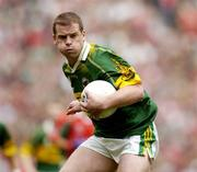 26 September 2004; Dara O Cinneide, Kerry. Bank of Ireland All-Ireland Senior Football Championship Final, Kerry v Mayo, Croke Park, Dublin. Picture credit; Brendan Moran / SPORTSFILE *** Local Caption *** Any photograph taken by SPORTSFILE during, or in connection with, the 2004 Bank of Ireland All-Ireland Senior Football Final which displays GAA logos or contains an image or part of an image of any GAA intellectual property, or, which contains images of a GAA player/players in their playing uniforms, may only be used for editorial and non-advertising purposes.  Use of photographs for advertising, as posters or for purchase separately is strictly prohibited unless prior written approval has been obtained from the Gaelic Athletic Association.